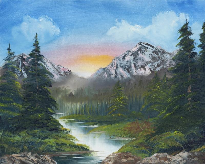 Quot Peaceful Mountain Sunrise Quot Originals All Artwork
